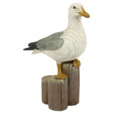 Seagull on Post, 19cm