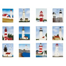 Lighthouse Magnets, 5cm, 12 assorted