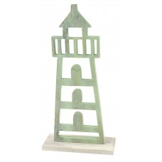 Lighthouse, green, 16cm