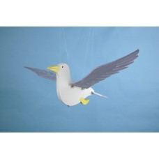 Gull (flying) with Feathered Wings, 35x32cm