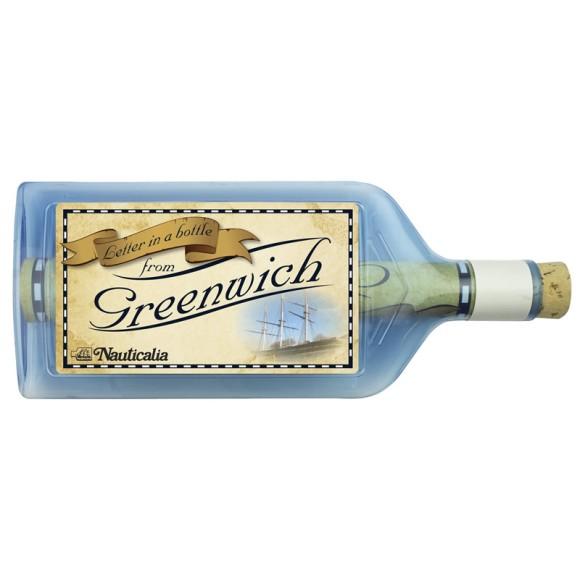 Letter-in-a-Bottle - Greenwich, 18cm, 2 assorted