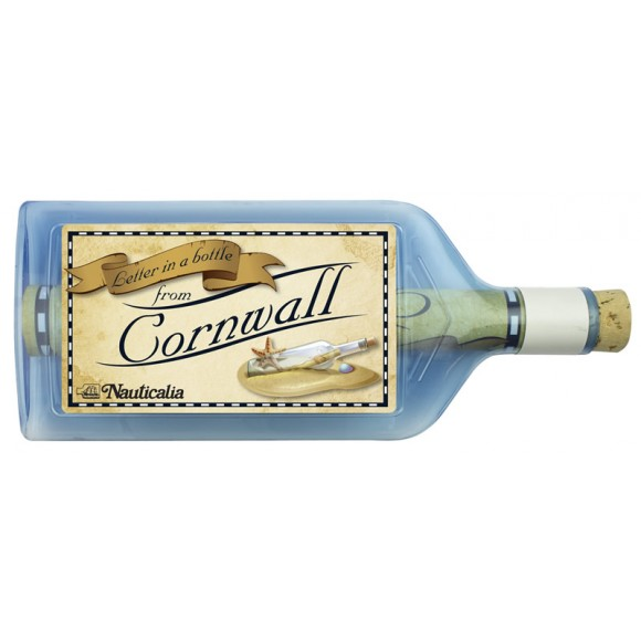 Letter-in-a-Bottle - Cornwall, 18cm, 2 assorted