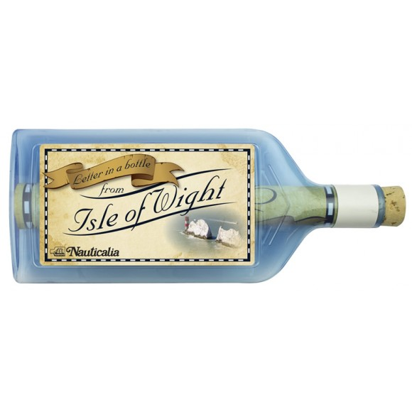 Letter-in-a-Bottle - Isle of Wight, 18cm, 2 assorted