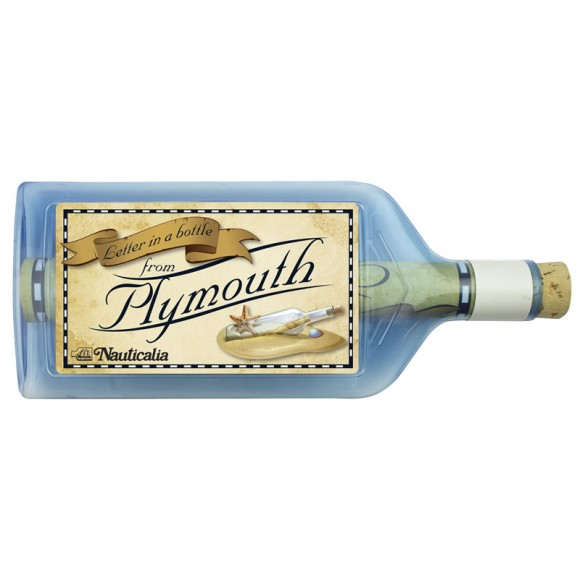 Letter-in-a-Bottle - Plymouth, 18cm, 2 assorted