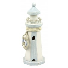 Lighthouse with Life Ring Décor, 22cm