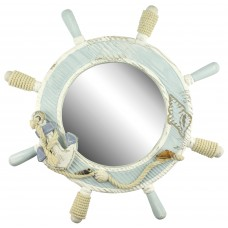 Ship's Wheel Mirror, 42cm