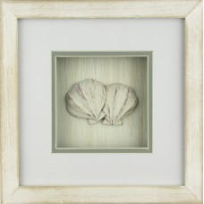 Scallop Framed Décor, 23cm