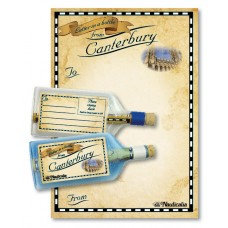 Letter-in-a-Bottle - Canterbury, 18cm, 2 assorted