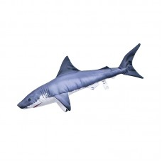 Mini Great White Shark Cushion, 53cm