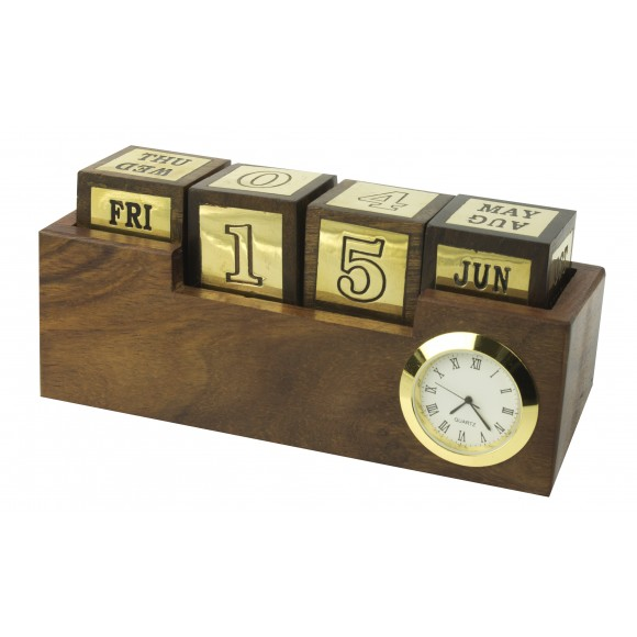 Naval-Style Desk Clock & Calendar