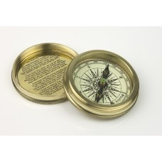 Compass with Robert Frost Poem, 7cm