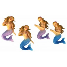 Mermaid Magnets, 10cm, 4 assorted