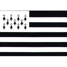 Courtesy Flag - Brittany, 30x45cm