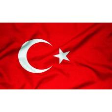 Courtesy Flag - Turkey, 30x45cm