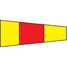 Courtesy Flag - Zero, 30x45cm