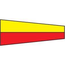 Courtesy Flag - Seven, 30x45cm