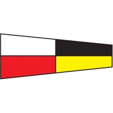 Courtesy Flag - Nine, 30x45cm