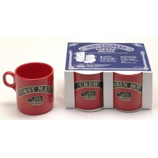 Mugs - stackable (4), red, 245ml