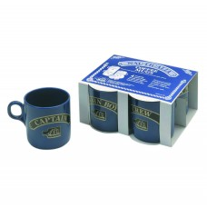 Mugs - stackable (4), blue, 245ml