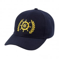 Ship's Wheel/Leaf Yachtsman Cap