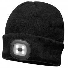 Double LED Beanie, black
