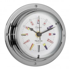Clipper Code Flag Clock (QuickFix), Chrome