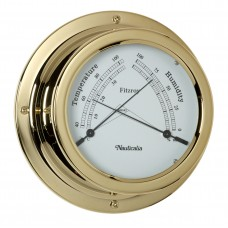 Fitzroy Thermometer/Hygrometer (QuickFix), Brass
