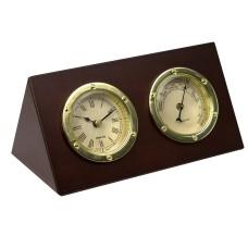Desktop Clock and Barometer Set, 17cm