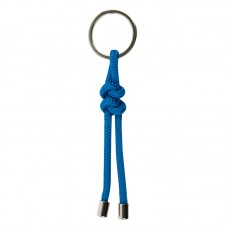 Knotted Rope Keyring, light blue