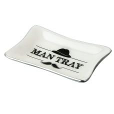 """""""Man Tray"""", white, 12x8cm"""