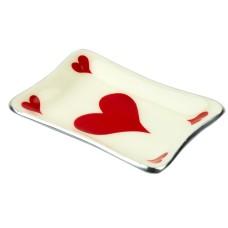 Heart Card Tray, 12x8cm