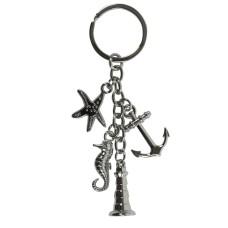 Charms Keyring (Starfish), chain