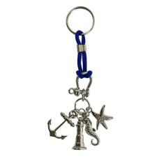 Charms Keyring (Starfish), blue cord