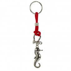 Seahorse Keyring, red cord
