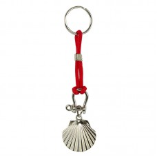 Scallop Keyring, red cord