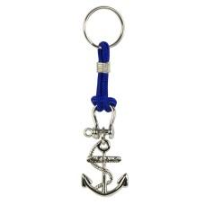 Anchor Keyring, blue cord