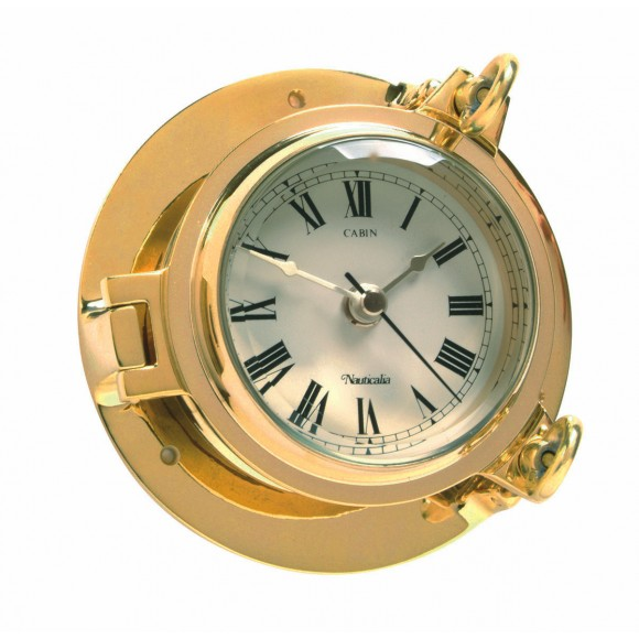 Brass Cabin Clock, 14cm