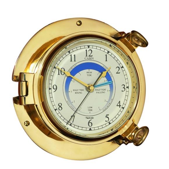 Brass Cabin Tide Clock, 14cm