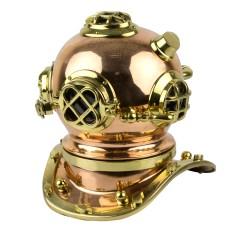 Brass & Copper Diving Helmet, 26cm