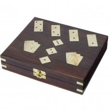 Games Set with Dice/Dominoes/Cards