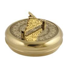 Brass Greenwich Pocket Sundial, 7cm
