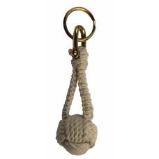 Monkey Fist Knot Keyring, ecru