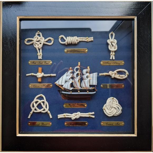 Cutty Sark Sailor's Knotboard, black, 25cm