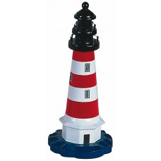Lighthouse, red/whi/blk, 20cm