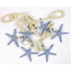 Starfish (6) Hanging Décor, blue, 100cm