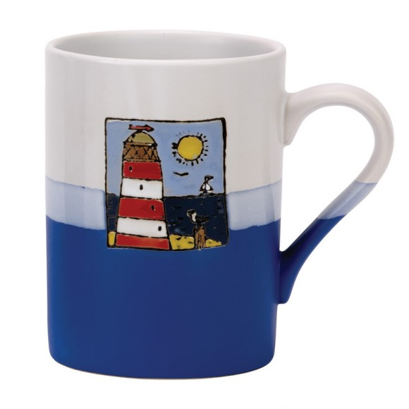 Red Lighthouse Mug, 450ml