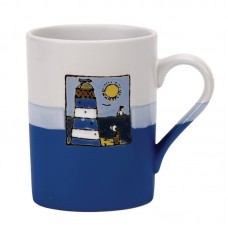Blue Lighthouse Mug, 450ml