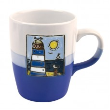 Blue Lighthouse Mug, 250ml