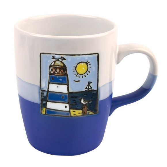 Blue Lighthouse Mug, 250ml