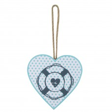 Heart-shaped Hanging Décor with Life Ring, 12cm